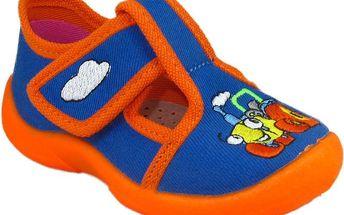 Chlapecké boty s mašinkou - modré