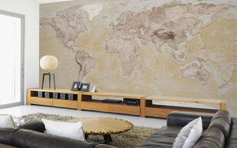 Tapeta Neutrální mapa 315x232 cm