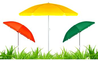 Skládací praktický slunečník s funkcí naklopení ve 3 barevných variantách