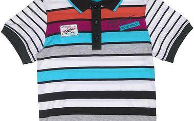 Chlapecké polo tričko - barevné - černé