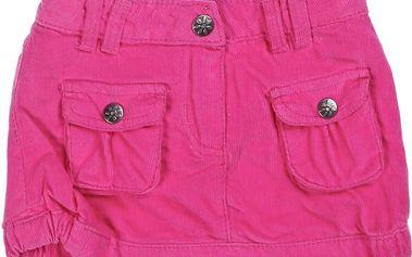 Růžová manšestrová sukně s kapsičkami