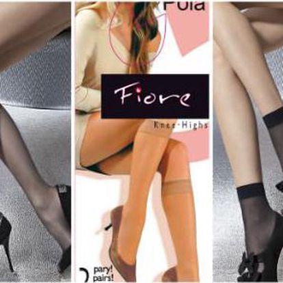 20 párů značkových podkolenek nebo ponožek zn. Fiore ve 4 barvách výrobce Jenifer!