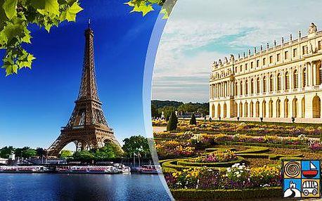 Romantická Paříž s návštěvou zámeckých zahrad ve Versailles v prodlouženém víkendu dle výberu
