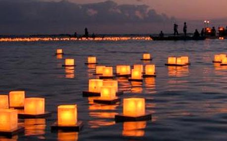 3 ks čínských lampiónů štěstí se svíčkou.