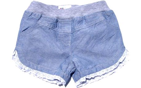 Dívčí šortky - světle modré