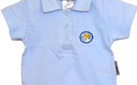 Modré polo tričko nyní v jedinečné akci za skvělou cenu