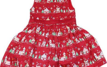 Červené zimní šaty nyní v jedinečné akci za skvělou cenu