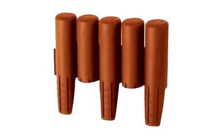 Palisáda IPAL5 24cmx2,7m plastová, terakota