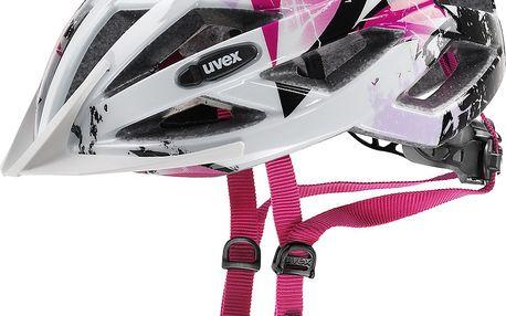 UVEX Air Wing white-pink 2016 cyklistická přilba