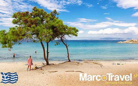 Sluneční řecké pláže na poloostrově Chalkidiki