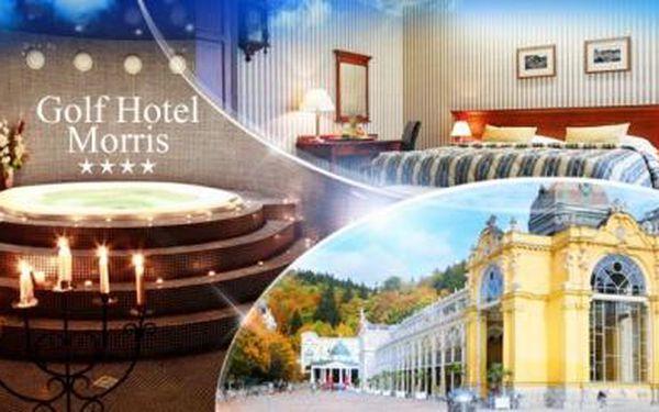 Hotel Morris**** MARIÁNSKÉ LÁZNĚ! WELLNESS pobyt na 2 dny pro 2 osoby s POLOPENZÍ a privátní vířivkou!