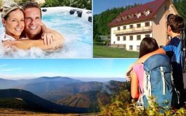 JESENÍKY - 4denní pobyt v krásném APARTMÁNU pro až 4 dospělé a 2 děti v obci Lipová - lázně.