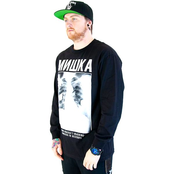 Triko Mishka Pandemic Long Sleeve Black