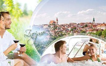 ZNOJMO na 3 DNY pro DVA! VINAŘSKÝ POBYT s bohatou POLOPENZÍ a lahví vína. Platnost do března 2016!