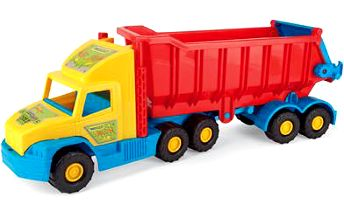 Auto Super Truck sklápěč plast 75 cm v síťce