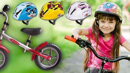 Helmy a odrážedla pro malé cyklisty