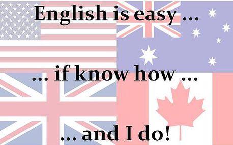 Týdenní intenzivní angličtina-individuální (po,út,čt,pá-13:00 až 14:30)