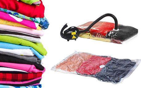 5 vakuových pytlů o rozměrech 80x60 cm pro snadné uskladnění prádla