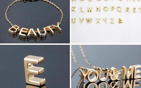 Poskládej si svůj šperk s přívěsky Letters!