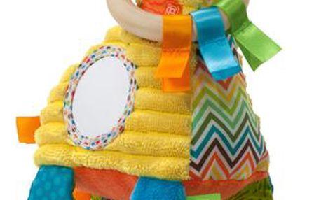 GAGA Žirafa šustí, chrastí, obsahuje zrcátko a kousátko.