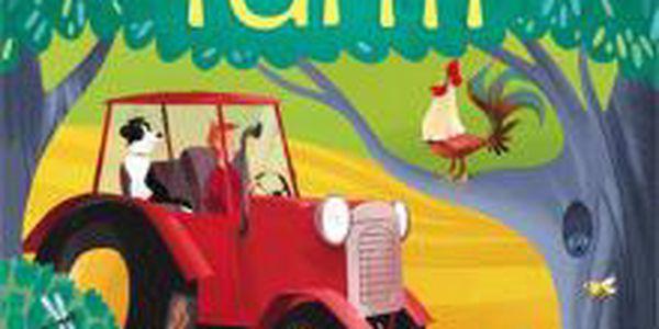 Anglická kniha pro děti Peep inside the farm