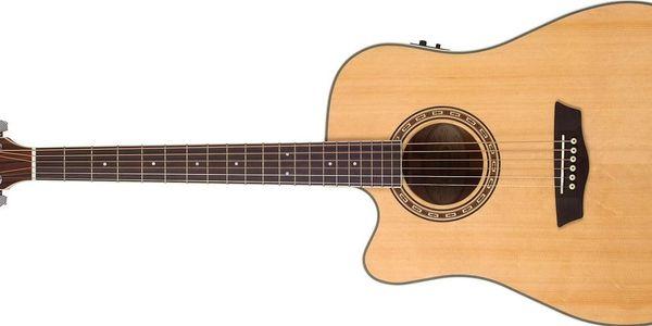 Levoruká elektroakustická kytara Washburn WD10SCE LH