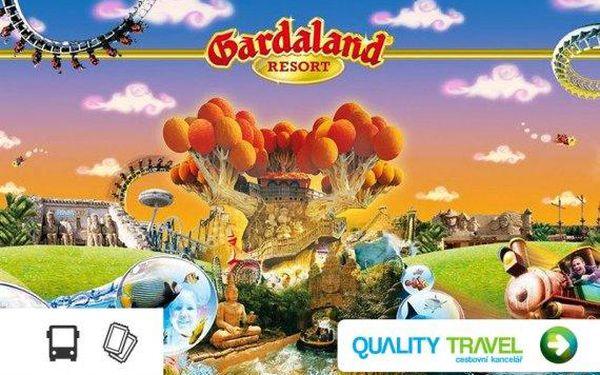 Italský zábavní park Gardaland – doprava autobusem a celodenní vstupenka v ceně