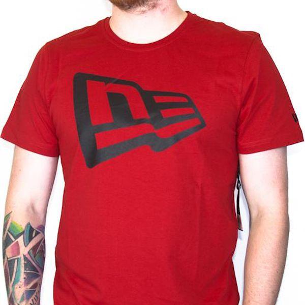 Triko New Era Flag Scarlet červená / černá S