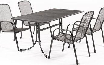 YOTRIO-MWH Bani 4+ set zahradního nábytku Zdarma 3ks bambusových loučí černých 90cm