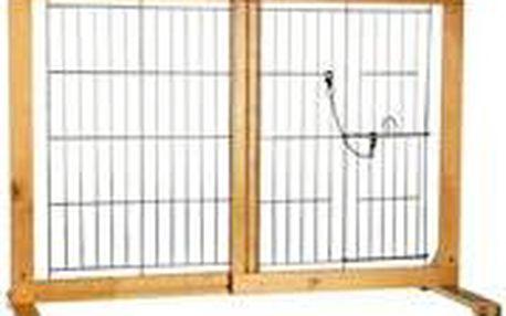 Trixie Posuvná bariéra do dveří pro psy a štěňata 61-103x75x40 cm