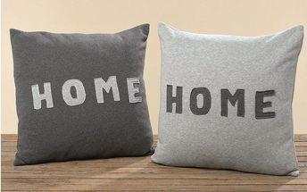 Sada 2 polštářků Home Grey