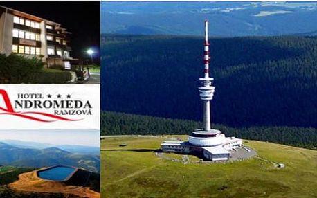 JESENÍKY horský hotel Andromeda*** 4 dny pro 2 s polopenzí, whirpoolem a vínem
