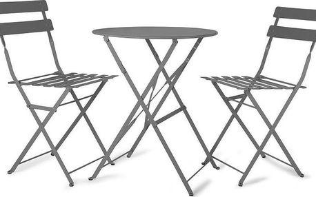 Zahradní stůl s 2 židlemi Rive Bistro Grey