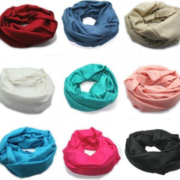 Kruhový šátek pašmína Tibetien v nejrůznějších barvách!