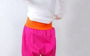 Dívčí letní kalhoty - růžové