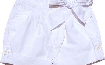 Dívčí šortky s mašlí - bílé