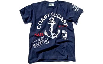Chlapecké tričko s kotvou - modré