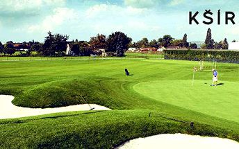 Den na golfu pro 2 včetně lekce s trenérem