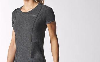 Dámské bezešvé tričko Adistar Wool Primeknit Tee, černá