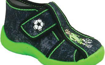 Chlapecké kotníčkové boty s fotbalistou - tmavě šedé
