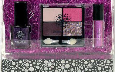 Dárková sada Makeup Trading Schmink Set Glitter Fuchsia Complet Make Up Palette