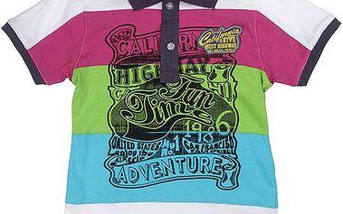 Chlapecké pruhované polo tričko - barevné