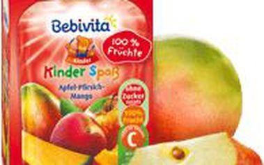 BEBIVITA Jablko, broskev, mango 90g