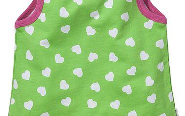 Dívčí tílko se srdíčky - zelené