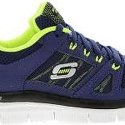 Skechers - Dětské boty Flex Advantage NVYL - tmavomodrá, 27