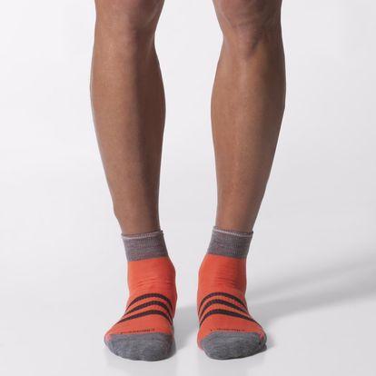 Běžecké ponožky Run Thin-Cushioned Ankle Socks 1 Pair, červená