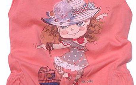 Dívčí tričko - broskvové