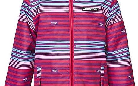 Dívčí pruhovaná bunda - růžová