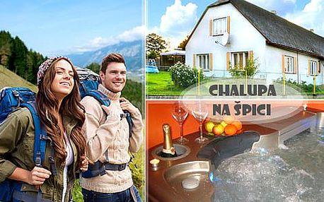 Léto na Vysočině s polopenzí, vířivkou, saunou a dalšími aktivitami v chalupě na Špici