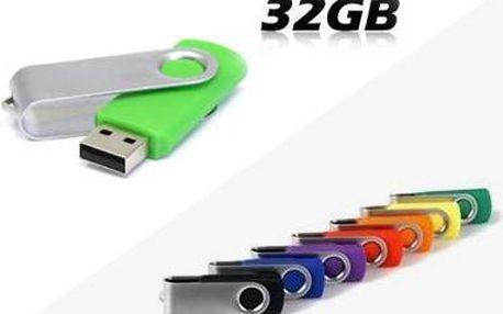 Kapacitní USB flash disk s kapacitou 32 GB včetně poštovného